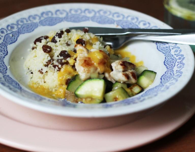 couscous kip courgette